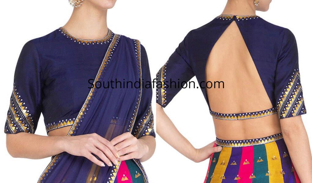 high neck saree blouse designs 2019