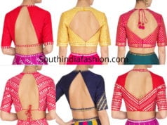 high neck saree blouse designs 2019