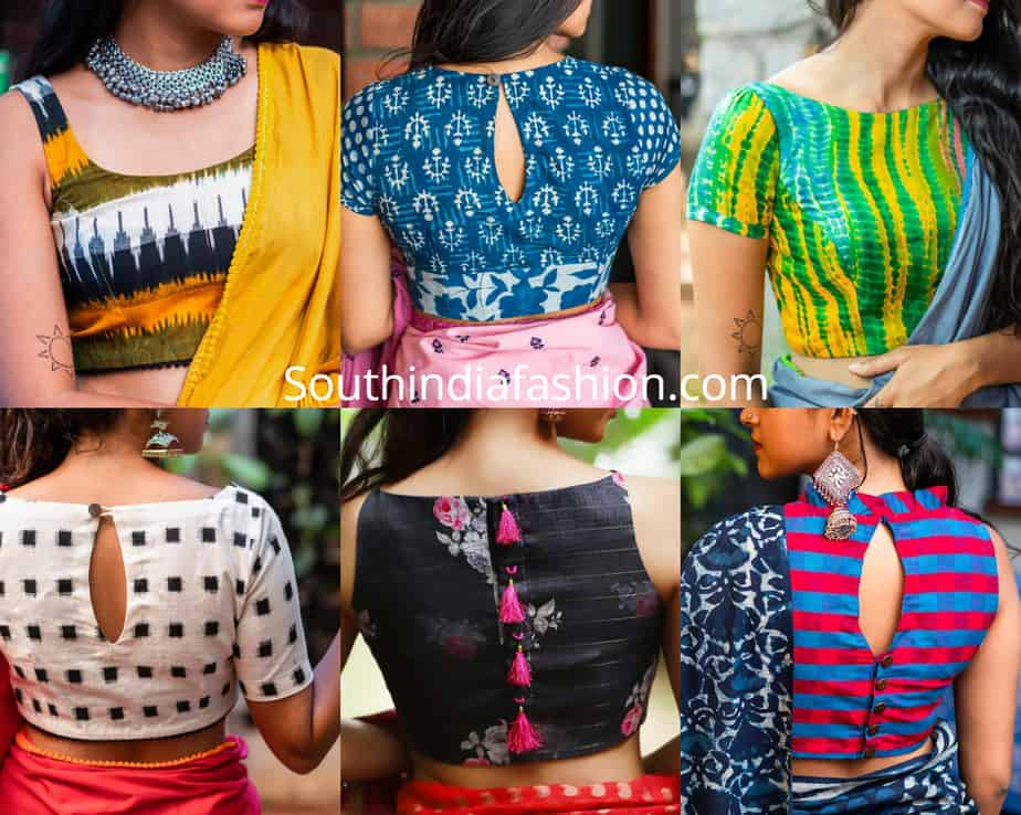 cotton blouse designs for sarees