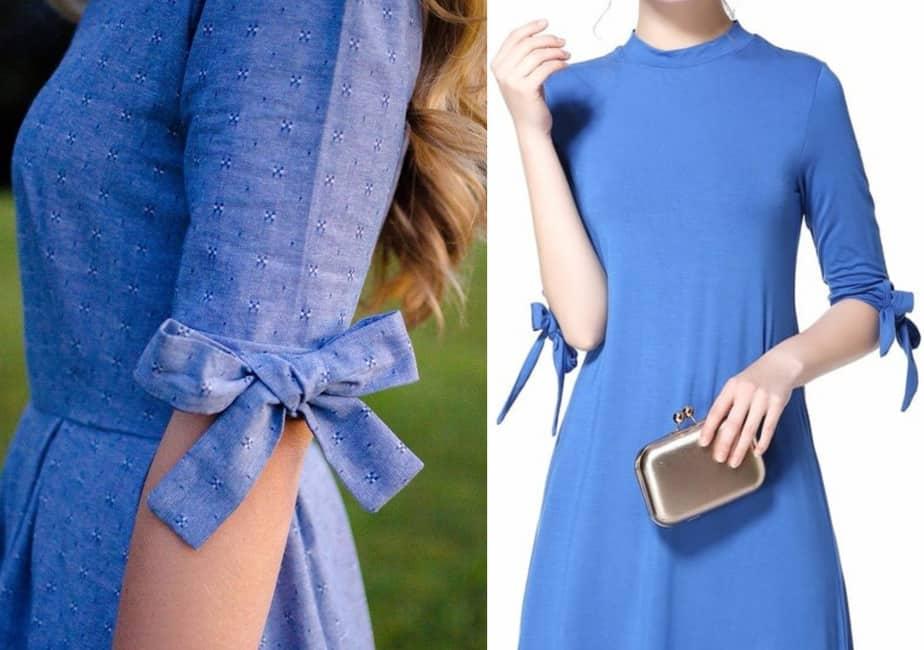 bow tie sleeve kurti design