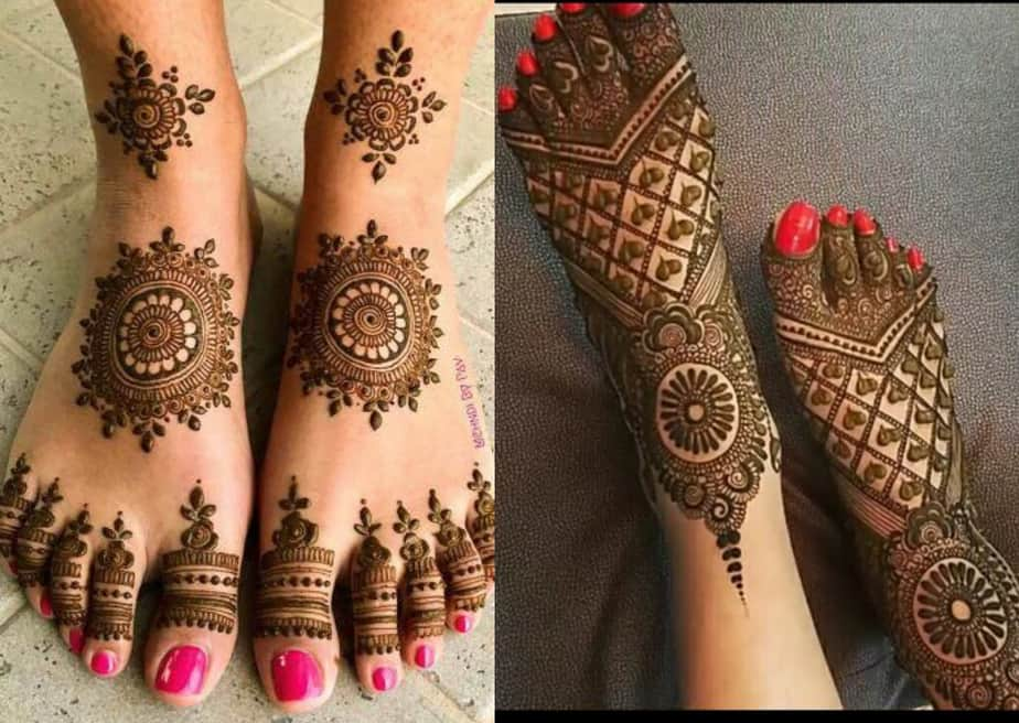 mehandi design leg simple