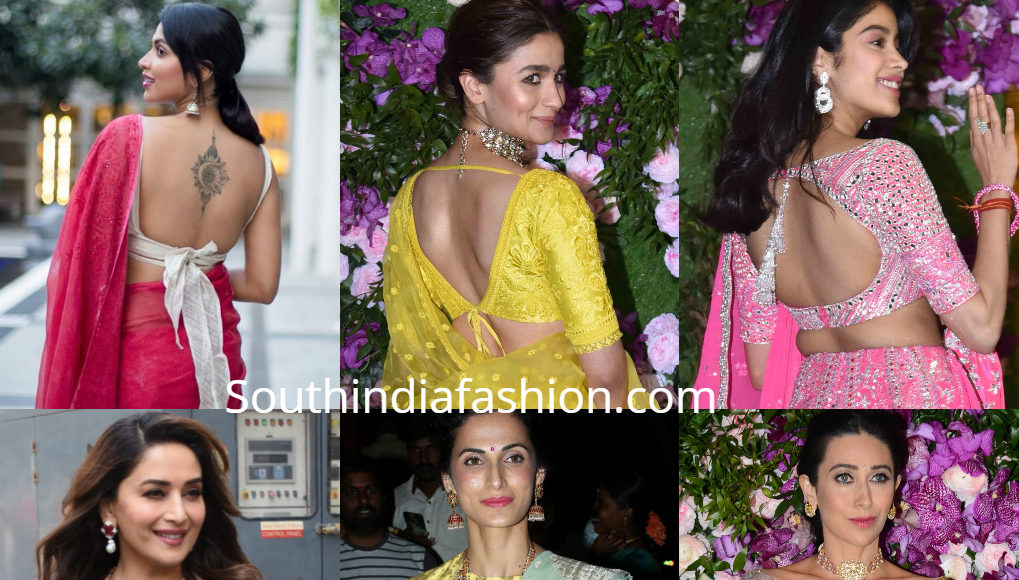 celebrity saree blouse designs 2019