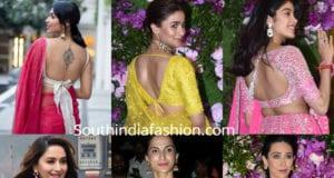 celebrity saree blouse designs 2019