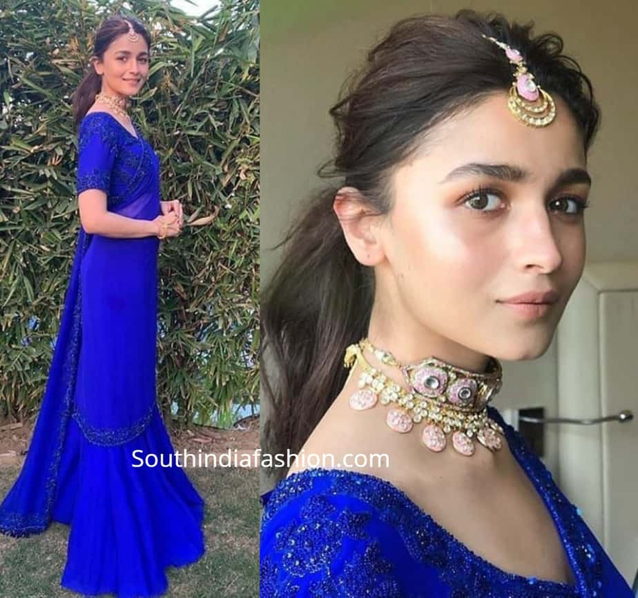 How To Style The Trending Choker Necklace With Indian Outfits