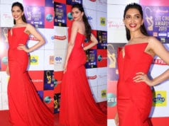 deepika padukone at zee cine awards red gown