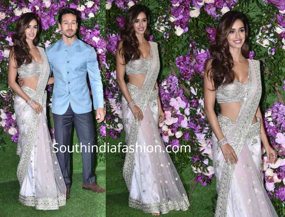 disha patani saree at akash ambani wedding