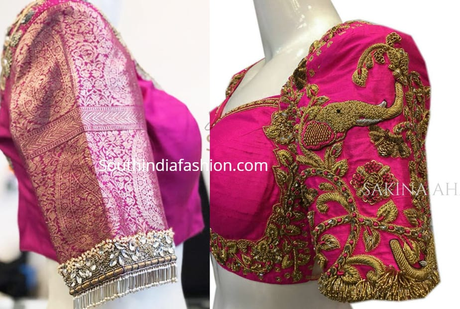 heavy maggam work blouse designs