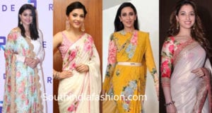 indian actresses in floral print outfits