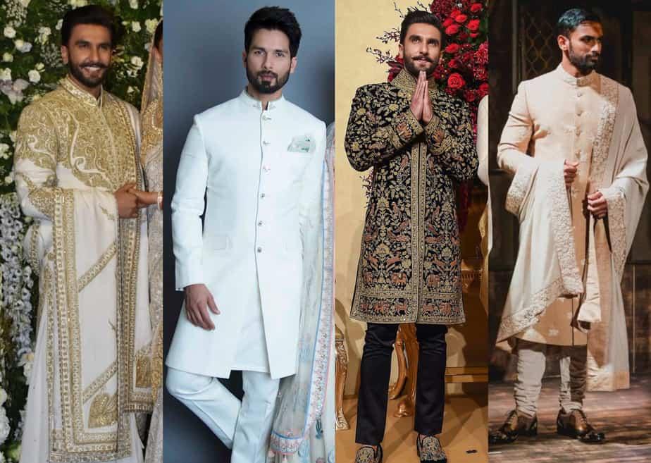 indian groom dresses for enagement and reception