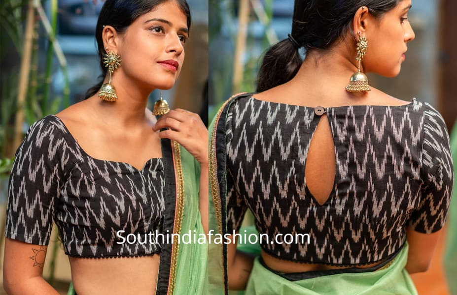 cotton saree blouse designs 2019