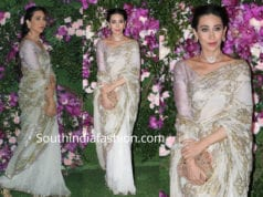 karisma kapoor in white saree at akash ambani wedding