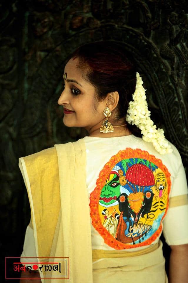 kerala blouse for kasavu saree
