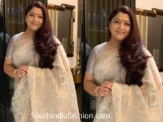 khushbu sindar saree at venkatesh daughter wedding reception