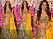 kira advani in yellow lehenga at akash ambani wedding reception