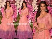 kriti sanon in pink lehenga at akash ambani shloka mehta wedding reception