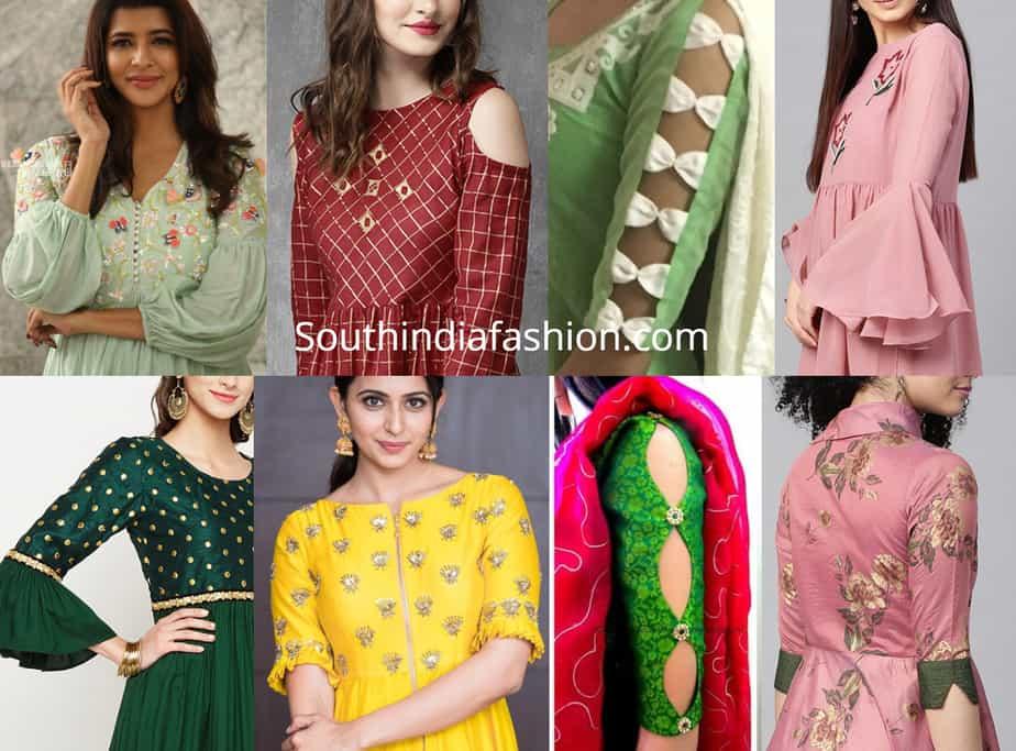 kurti sleeves designs 2019