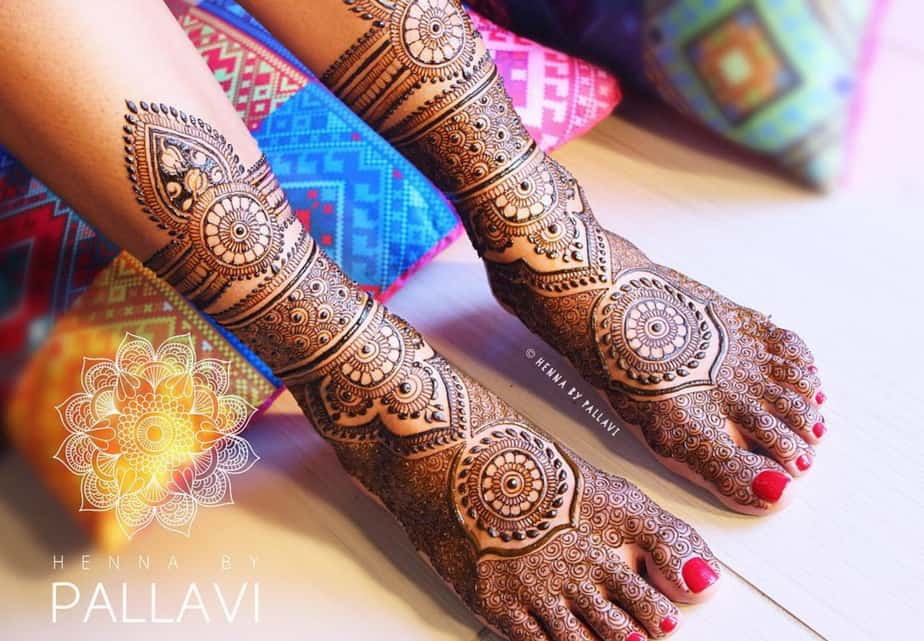 latest mehndi designs for indian brides