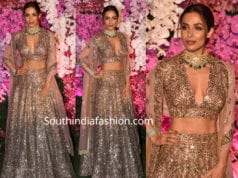 malaika arora khan lehenga at akash amabni reception