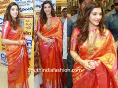 mehreen pirzada kanjivaram saree at cmr shopping mall