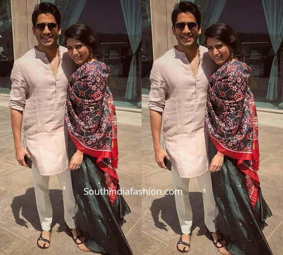 naga chaitanya and samantha at venkatesh daughter wedding