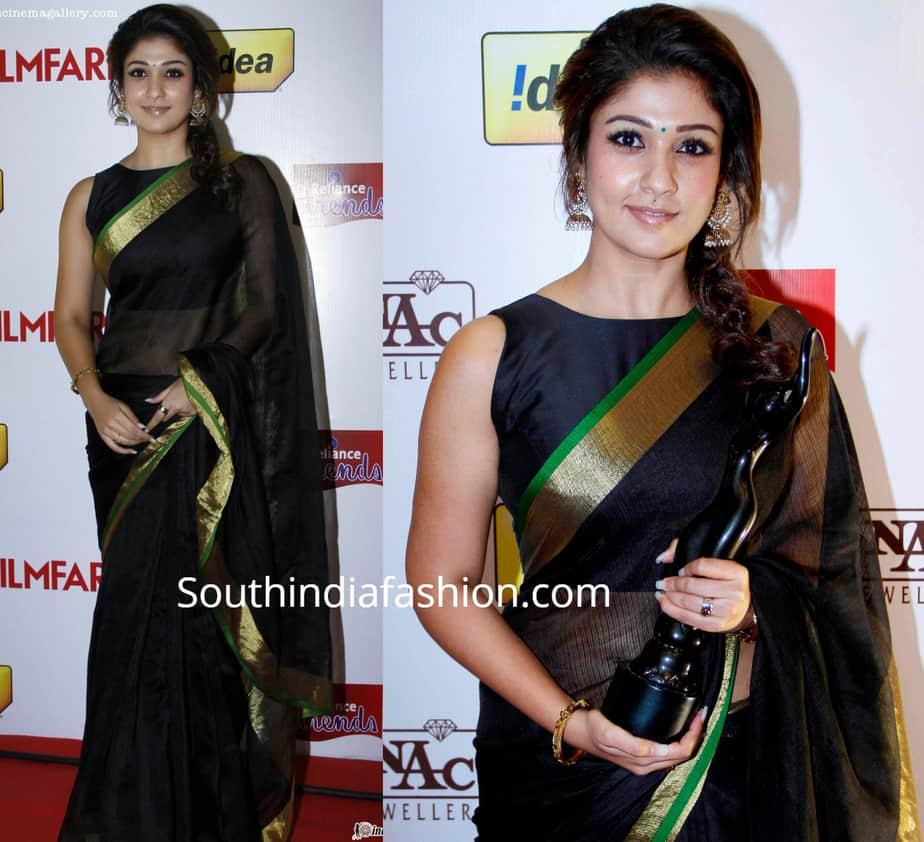 nayanthara saree at filmfare awards