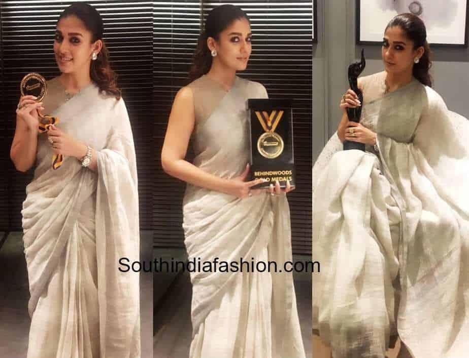 nayanthara top saree looks
