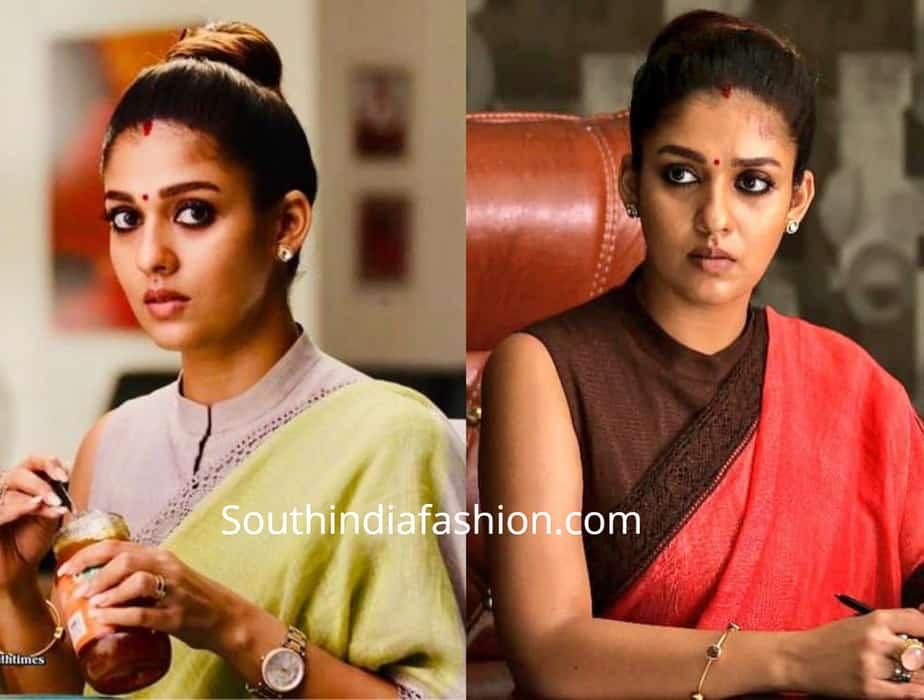nayanthara sarees and blouse designs in visvasam