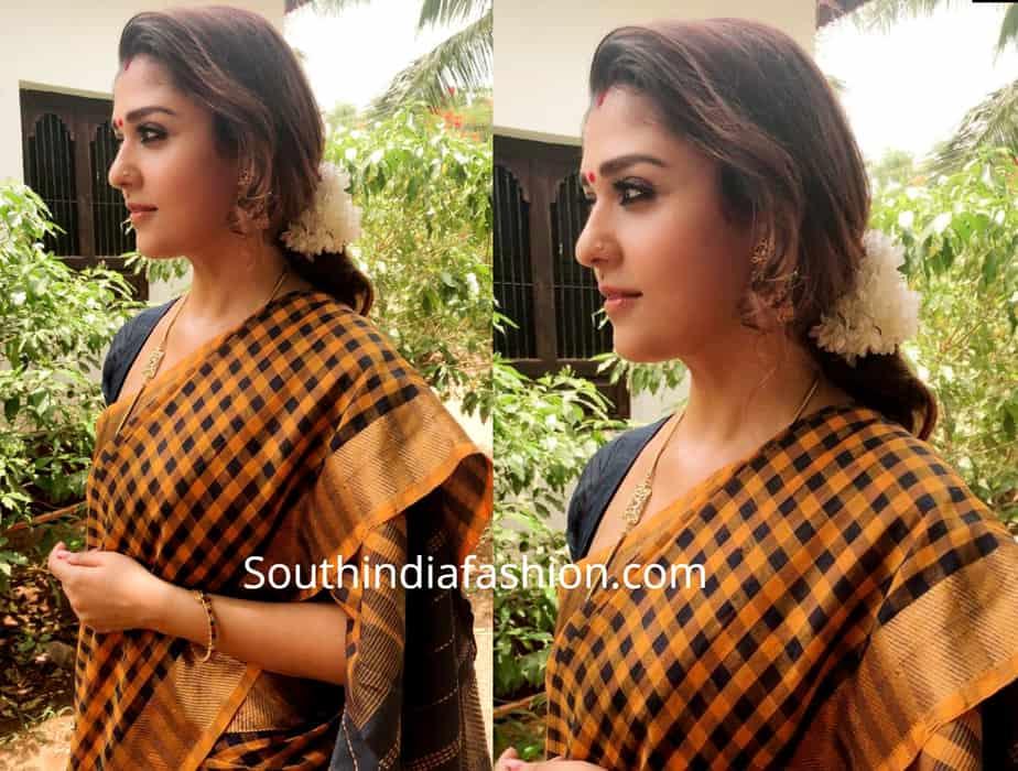 nayanthara sarees in visvasam