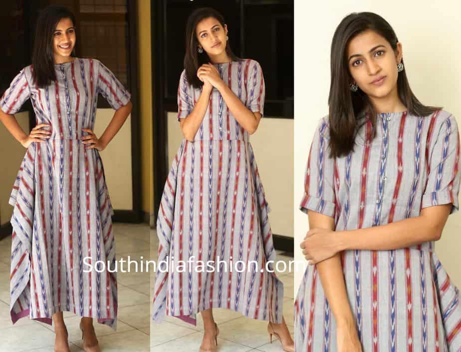 niharika konidela dress for suryakantham promotions