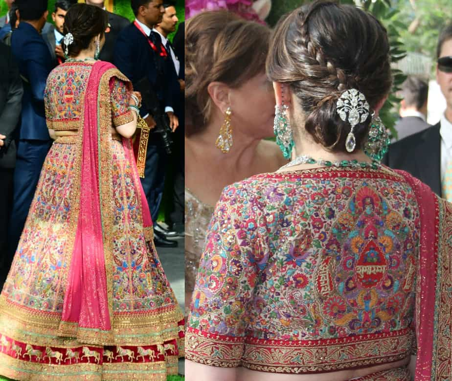 nita ambani customized lehenga