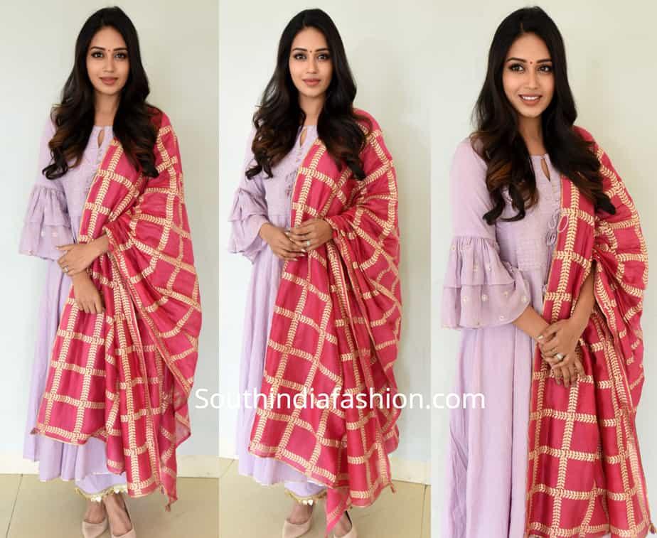 nivetha pethuraj salwar kameez at chitralahari teaser launch