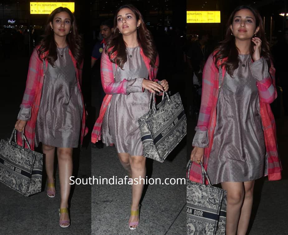 parineeti chopra dress with shrug