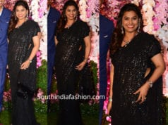 pinky reddy in black saree at akash ambani reception