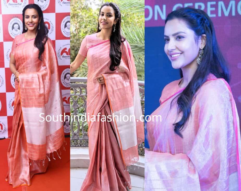 priya anand linen silk saree