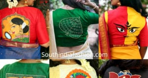 quirky saree blouse designs by label abnormal