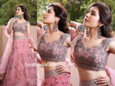 raashi khanna in pink lehenga at vishal engagement