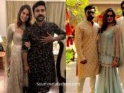 ram charan and upasana at venkatesh daughter wedding