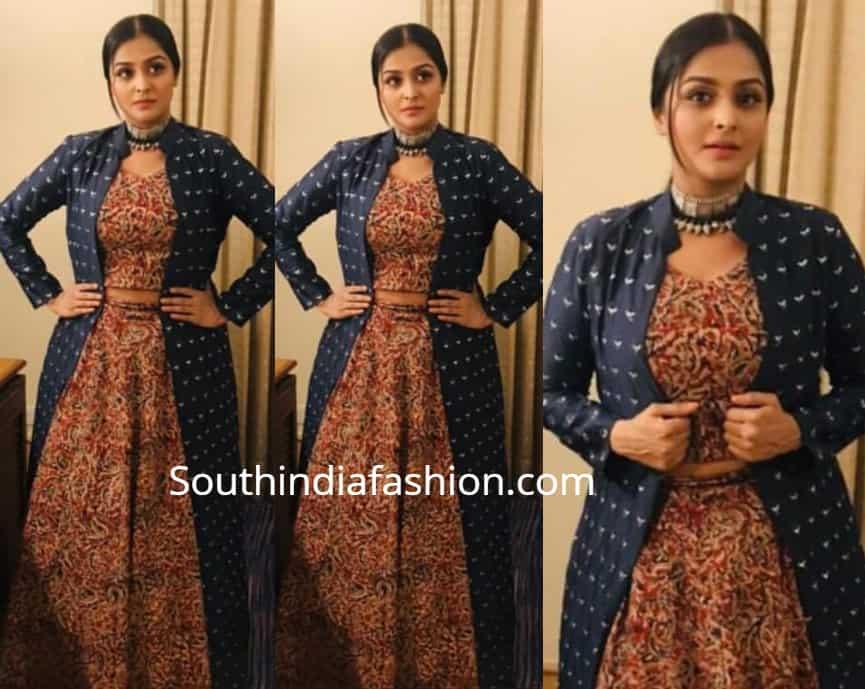 9b08b37f85b2d Ramya Nambeesan at Vanitha Film Awards – South India Fashion