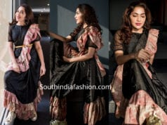 ramya Subramanian anchor ruffle saree