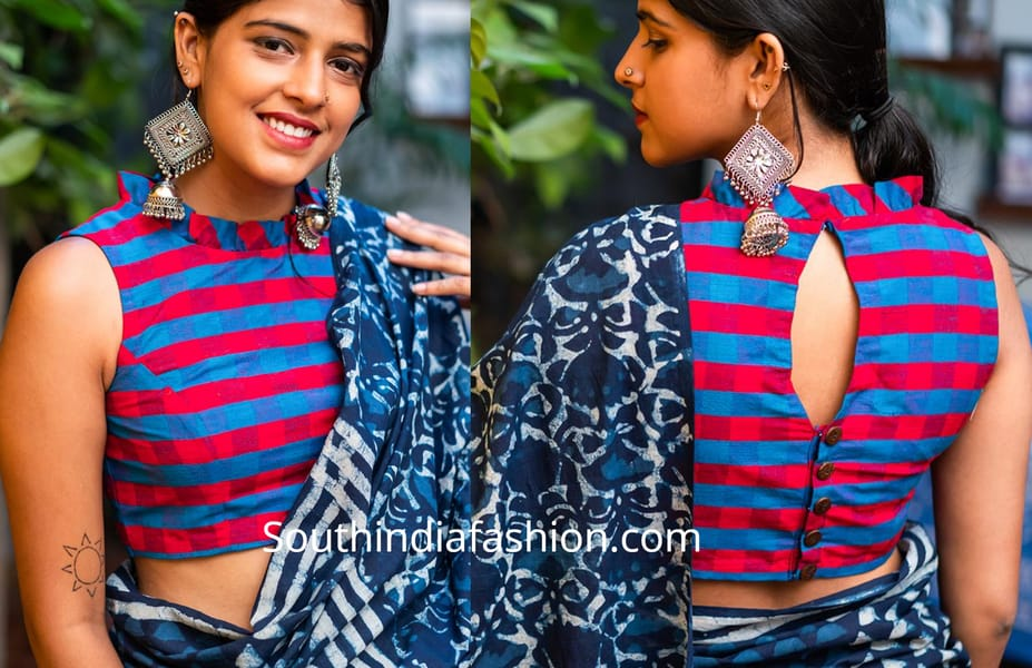 cotton blouse designs 2019
