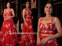 regina cassandra red lehenga at teach for change 2019