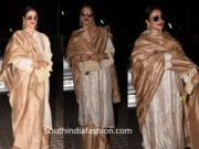 rekha saree with kurta