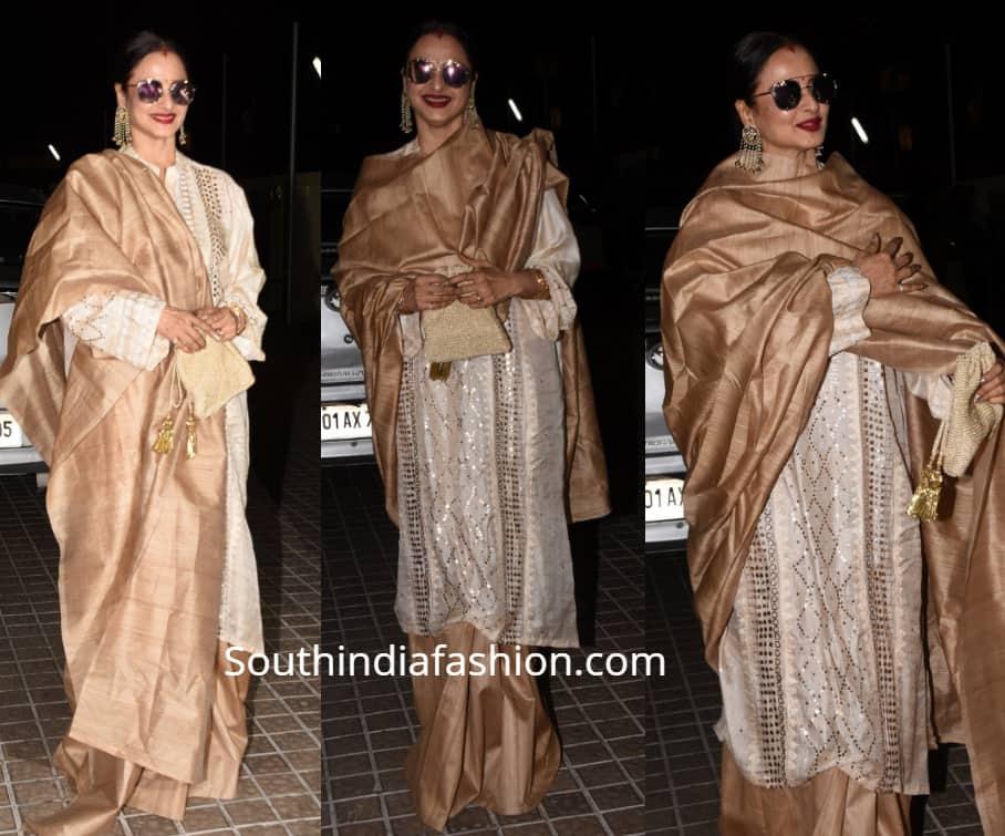 rekha saree with kurta