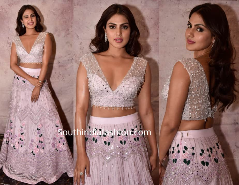 rhea chakraborty in varun chakkilam long ckirt crop top at teach for change