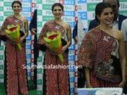 samantha akkineni at big c vijayawada anamika khanna dress
