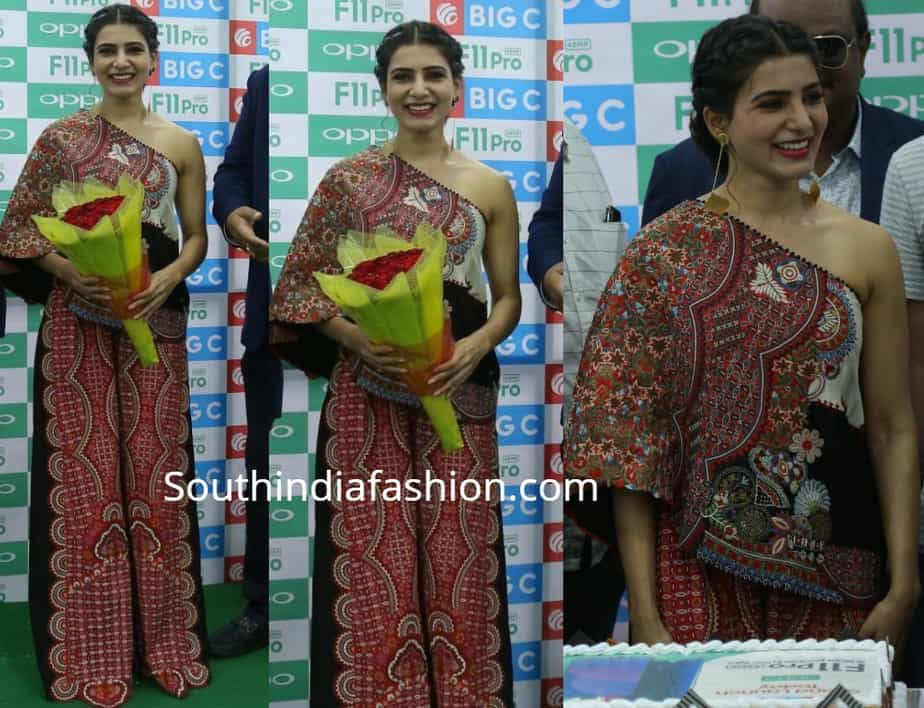 samantha akkineni at big c vijayawada anamika khanna dress
