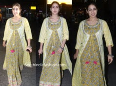 sara ali khan yellow maxi dress