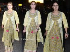 sara ali khan yellow maxi dress