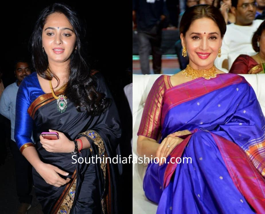 saree blouse designs for fat arms