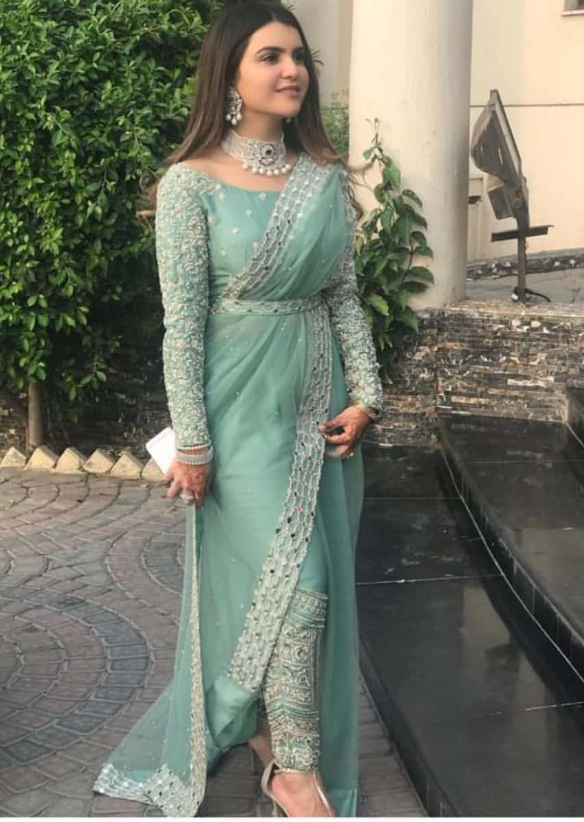saree with pants